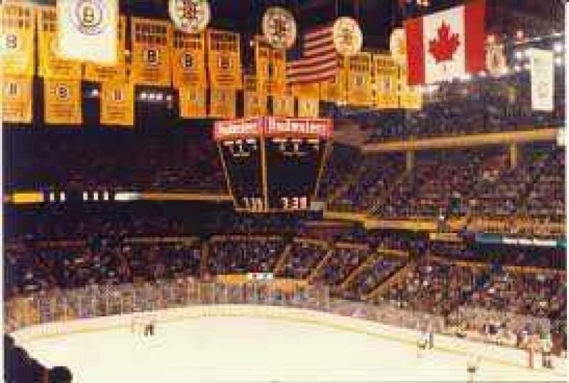 TD Garden section BAL 314 home of Boston Bruins Boston