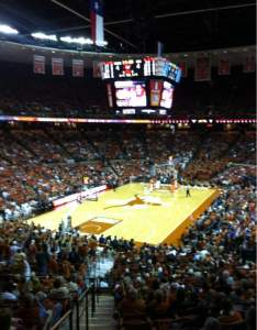 Seating view for frank erwin center section row seat also texas longhorns vs rh aviewfrommyseat