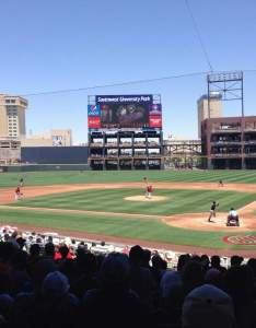 Southwest university park section row  seat el paso chihuahuas vs sacramento river cats shared anonymously also rh aviewfrommyseat
