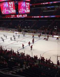 Capital one arena section row  seat washington capitals vs boston bruins shared anonymously also rh aviewfrommyseat