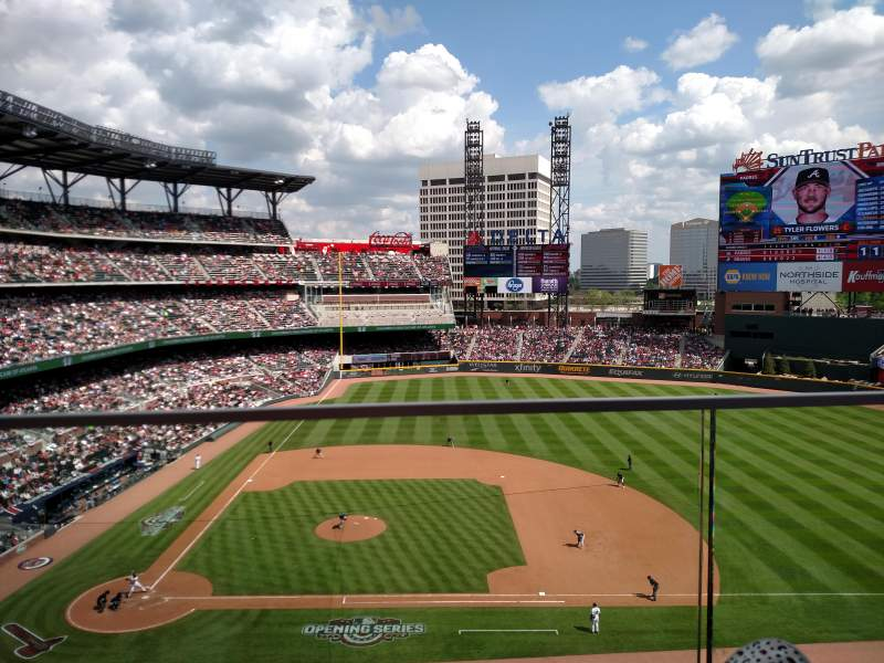 Atlanta Iphone X Wallpaper Suntrust Park Section 320 Home Of Atlanta Braves