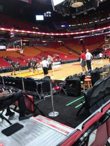American Airlines Arena Section 108 Row 2 Seat 20