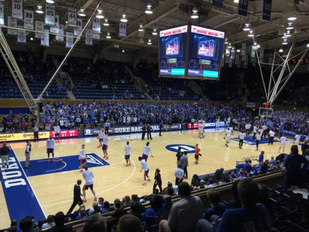 Cameron Indoor Stadium Basketball Seating Chart