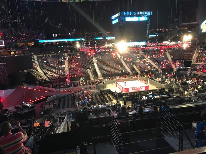 Bert Wallpaper Iphone X State Farm Arena Section 213 Row F Seat 3 Wwe Raw