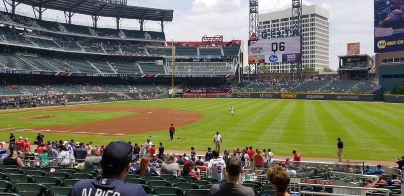 SunTrust Park section 114 home of Atlanta Braves