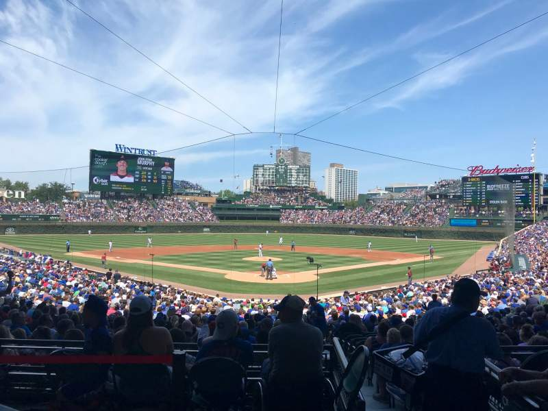 wrigley field section 511 home of