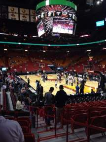 American Airlines Arena Section 102 Row 15 Seat 1 - Miami