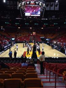 American Airlines Arena Section 101 Row 16 Seat 1 - Miami