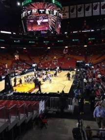 American Airlines Arena Section 124 Row 1 Seat 2 - Miami