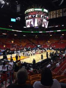 American Airlines Arena Section 122 Row 17 Seat 8
