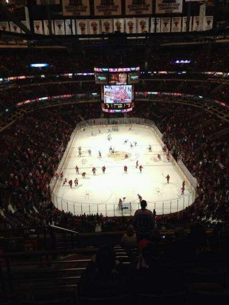United Center section 306 home of Chicago Blackhawks