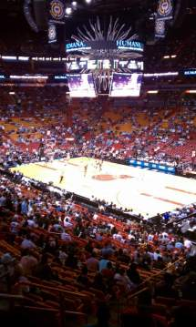American Airlines Arena Section 115 Row 33 Seat 14