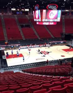 Viejas arena section  also seat view reviews from home of san diego state aztecs rh aviewfrommyseat