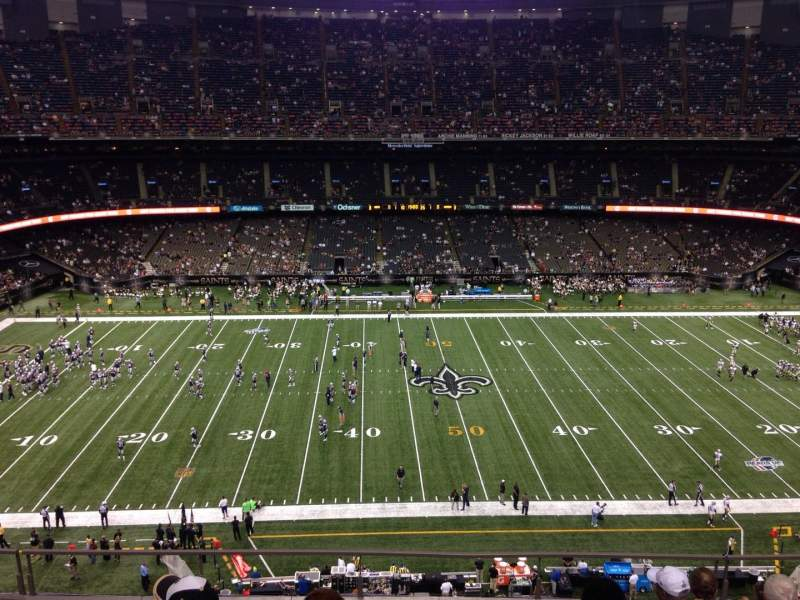 MercedesBenz Superdome section 641 row 7 seat 7  New Orleans Saints vs New England Patriots