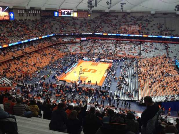 carrier dome seating. carrier dome section 301 row zz seat 10 syracuse orange vs seating