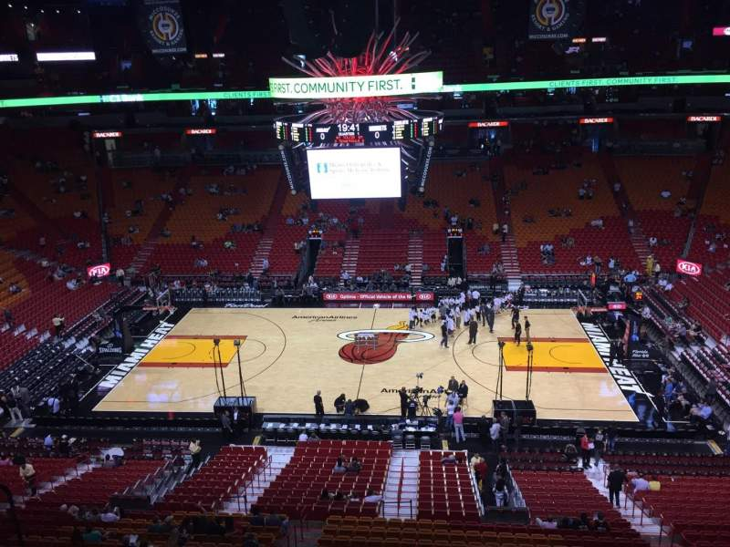 Iphone X Inside View Wallpaper American Airlines Arena Section 324 Home Of Miami Heat