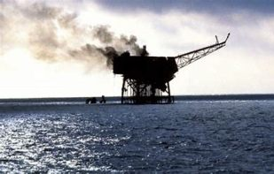 Remains of Piper Alpha 7th July 1988