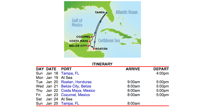 Sample Caribbean Itinerary