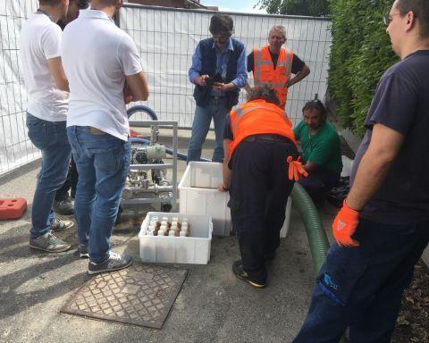 Campioni prelevati in maniera progressiva dalla prima uscita dell'acqua all'inserimento del siluro di ghiaccio, fino al completamento della procedura