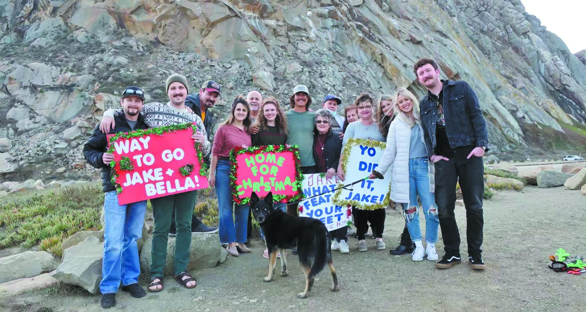 Air Force Veteran Jake Eyre's<br>Walk Across America Ends in Morro Bay