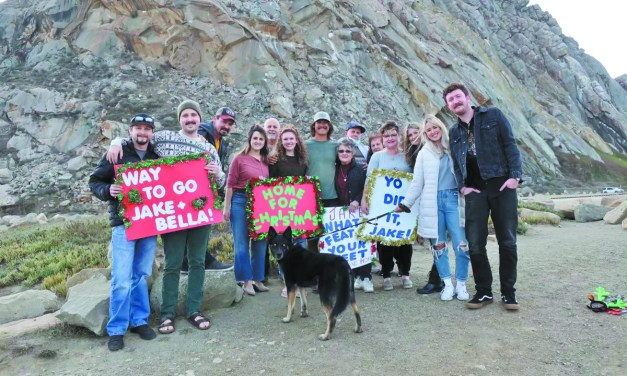 Air Force Veteran Jake Eyre's<br>Walk Across America Ends in Morro Bay
