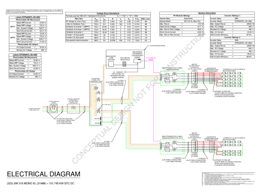 humbolt solar pv electrical diagram