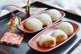 Mochi mit Erdnussbutterfüllung