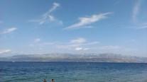 Strand in Supetar, Kroatien