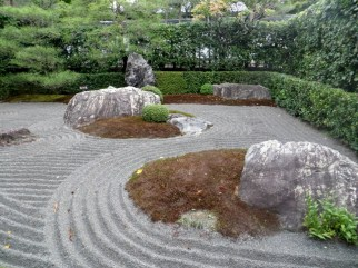 Garden of a Buddhist Temple in Kyoto
