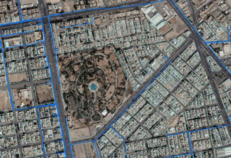 Superposition du réseau sur Google Maps après la transformation du référentiel