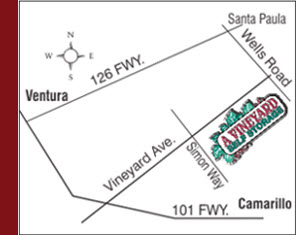 Map Directions to A Vineyard Self Storage