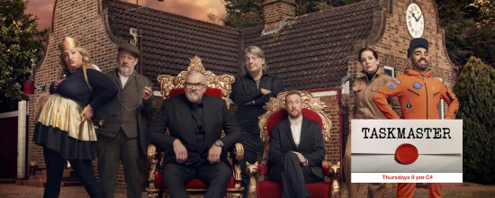 Taskmaster contestants for series 10 with Greg Davies and Alex Horne