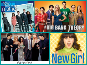 Friends, Big Bang Theory or right back to I Love Lucy