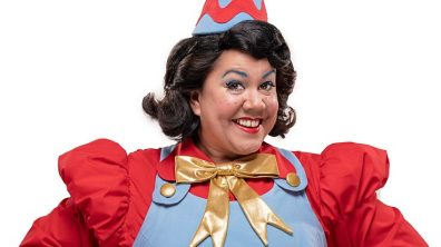 Jenny Dale as Jiffy the Big Boss Elf in CBeebies Christmas Storyland