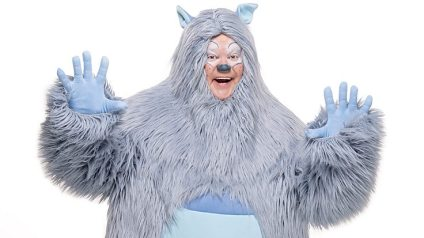 Justin Fletcher as a Yeti