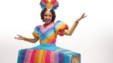 Gemma Hunt as Empress of Storyland in CBeebies Christmas Storyland
