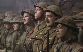 The troops prepare to go over the top in Blackadder Goes Forth
