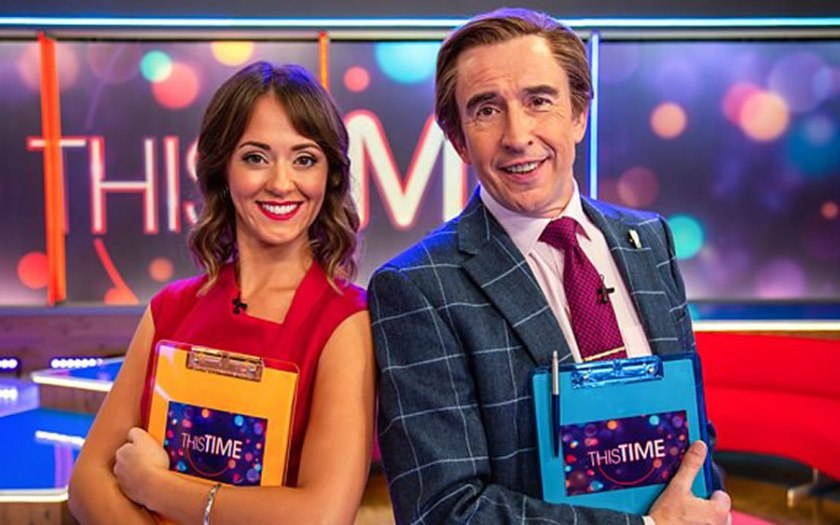 Steve Cougan and Susannah Fielding in This Time with Alan Partridge