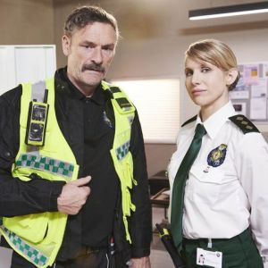 Lucy Punch and Juilian Barratt in Bloods