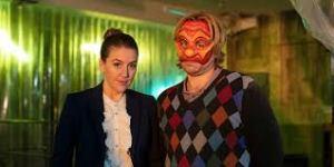Gemma Whelan and Kevin Bishop in Wuthering Heist