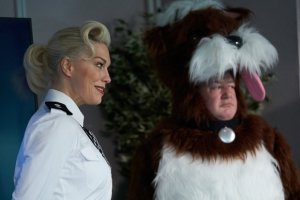 Johnny Vegas and Hannah Waddingham in Murder They Hope: Dales of the Unexpected