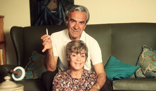JOHN LE MESURIER AND WIFE JOAN Who has died at the age of 90AT HOME, 1970