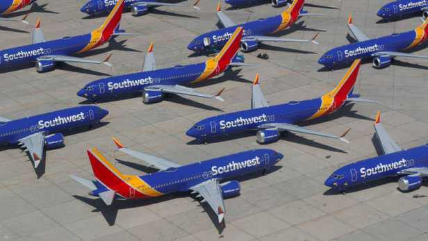 southwest airlines boeing 737 max grounded en tierra