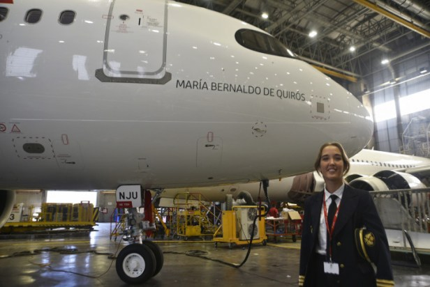 Airbus A320neo de Iberia en homenaje a María Bernaldo de Quirós