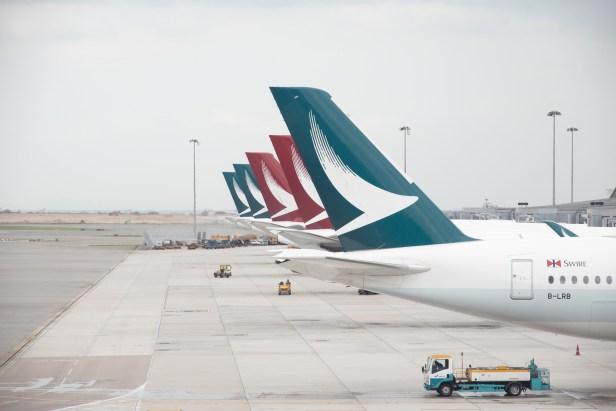 Aviones de Cathay Pacific y Cathay Dragon