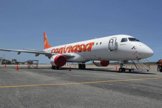 Avión de Conviasa, aerolínea de Venezuela