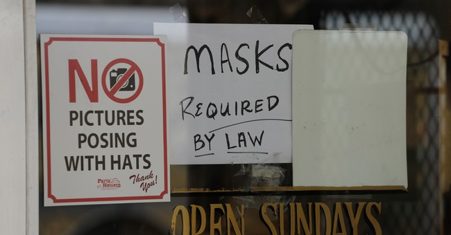 Mask Required sign on small business