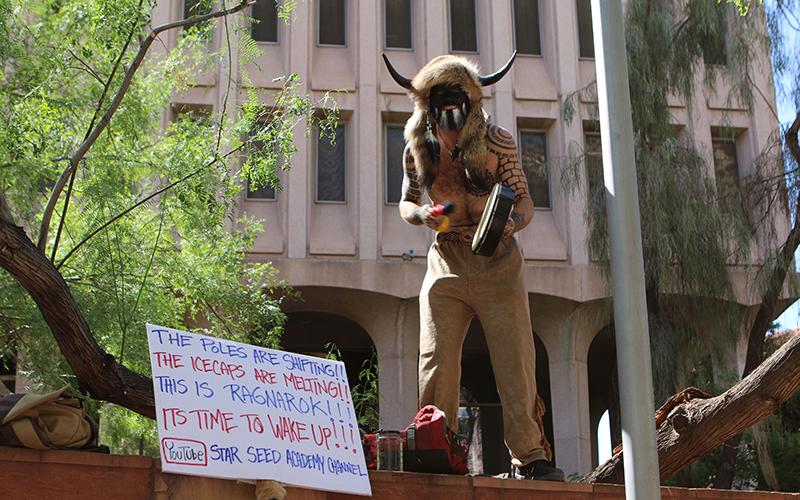 Jake (Jacob) Angeli protesting global warming