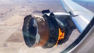United Airlines Flight 328 Engine on Fire