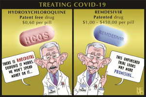 Fauci pushing Remdesivir vs HCQ because HCQ is patent free and costs .60 cents per pill